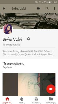 my channel on YouTube     by sofiavalvi