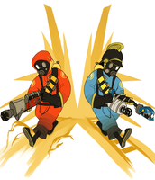 Pyro Team by CrescentMarionette