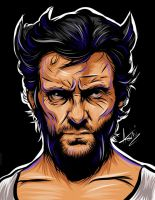 Hugh Jackman Wolverine - Adobe Ideas by Atebitninja