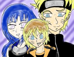 naruto hinata and damien oc by Diamond-Rainbow