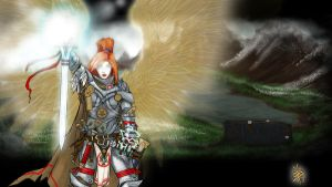 Ilmater's Aasimar Paladin by TravTheMad