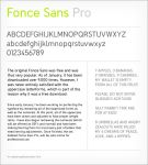 Fonce Sans Pro Preview by TheRyanFord