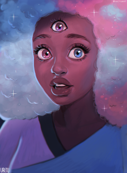 Cotton Candy Garnet by VactuART