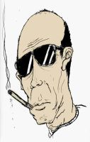 Hunter S Thompson by PatrickPower