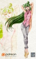 Sailor Pluto_Setsuna_manga style by Pillara