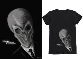 Doctor Who- The Silence T-shirt Design by Jezzy-Fezzy