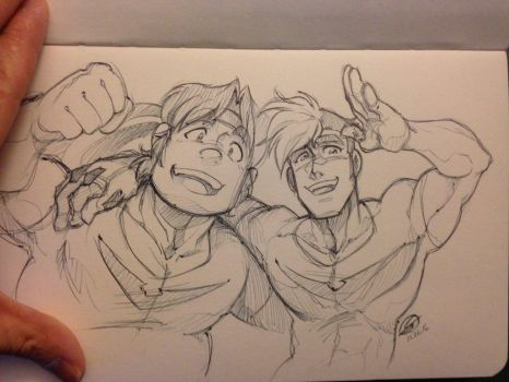 Space Bros by zillabean