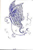 Sketchbook Project-23 - Butterfly by NikitaLaChance