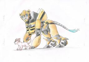 Bumblebee and Raf by deladia