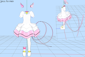 MMD- Platnium Dress -DOWNLOAD by MMDFakewings18