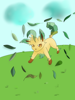 Leafeon! Use Leaf Storm Now! by EzmeAG98
