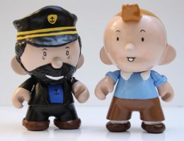 Tintin with Capt. Haddock by Italian-Goatee
