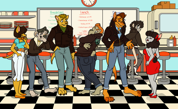 The Tailpipe Bodgies by OhSadface