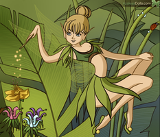 Tink In the Garden by CalicoWoolfe