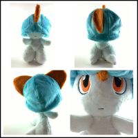 shiny ralts plush (for sale) by LRK-Creations