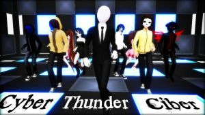 [MMD] Creepypasta VIDEO - Cyber Thunder cider by Laxianne