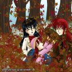 +fun in the leaves+ by amethyst-rose