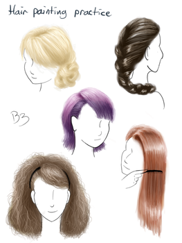 Hair Painting Practice 1 by BronyBiscuitBites