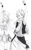 Natsu and Lucy by Safri93
