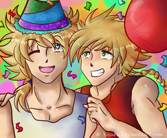happy Birthday Eze and Chris!! by Yosuru