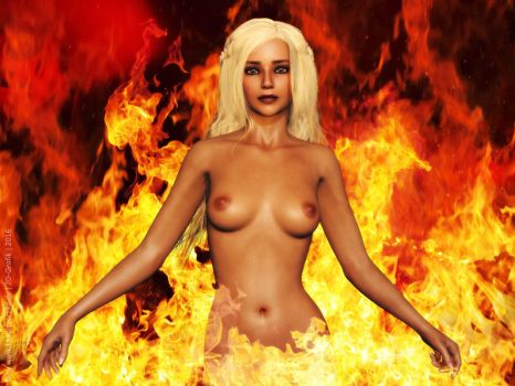Game of Thrones - Daenerys-Fire-and-Flame by LadyNightVamp
