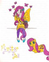 MLP- Fluttershy Humanized by NaziViolinist