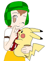 El Chavo with Pikachu - Pokemon style by SuperMarcosLucky96