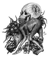 Monster No.4 : Head Eater by atati23