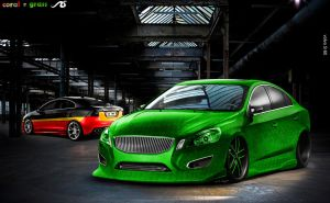 volvo S60 coral n grass by praveen897