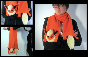 Flareon Scarf by FandomFactoryPlushes