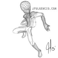 Amazing Spiderman_vector outlines by JFulgencio