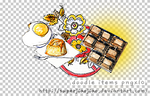 Doodle Items PNGx10 by superjiaojiao