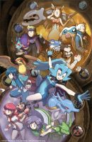 Johto League Gym Leaders by slimu