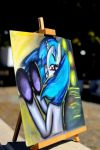 Vinyl Scratch Pastel Painting Side View by FrenchyToastyy