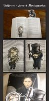 Les Mis: Valjean + Javert Bookmarks by WithSkechers