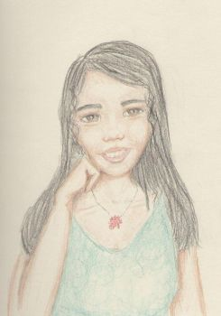 Black-haired Girl by ponderosalove