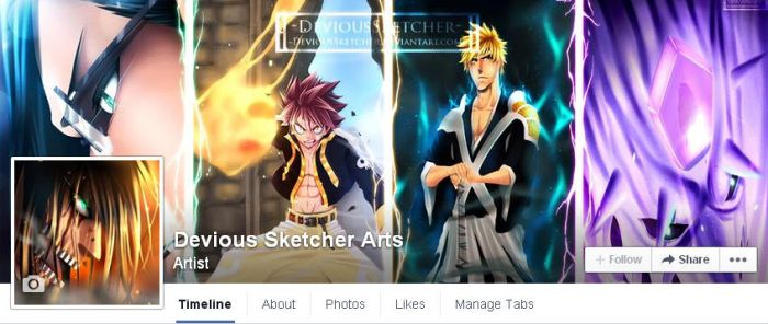 Facebook Page (Updated) by DeviousSketcher