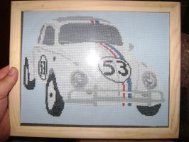 Herbie Cross Stitch by LittleBigDave
