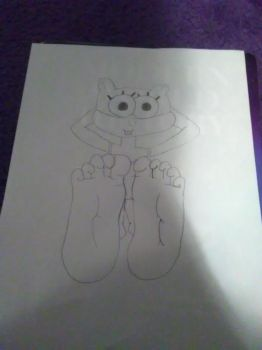 Sandy with 5 toes (REQUEST BOI) by SonPikachuBound2006