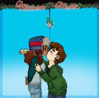Mistletoe Meme: Admin and Admin by Ask-Ava