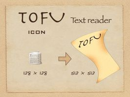 Tofu Text reader icon by rockingdead