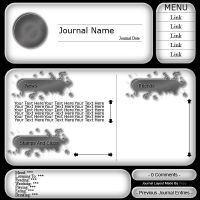 Black And White Journal by Xepy