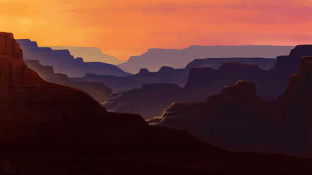Wanderings: Canyon by wowtheskyisblue