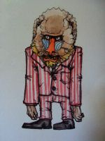 Baboon in a Suit. by whamball