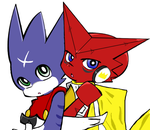 Shoutmon and Gum in PASWG by Nana-dono