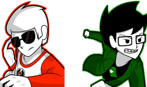 :: ANIMATED John and Dave Sprites :: by Tigerman-exe
