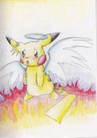 Angel Pikachu Re-Done by spiffychicken