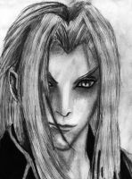 Forgotten Sephiroth Pencil Drawing by AxelFlame8