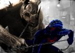 Mortal Kombat XI spiderman vs rhino by FredrikEriksson1