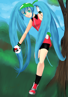 Hatsune Miku in Pokemon World by StarlightMemories
